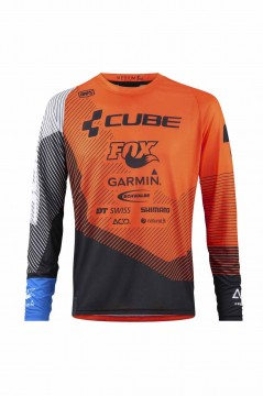CUBE EDGE Rundhalstrikot langarm X Action Team #10730 M