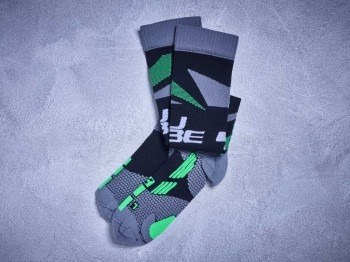 CUBE Socke ACTION black grey green #11824
