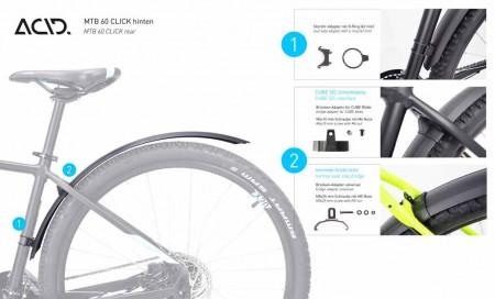 CUBE ACID Schutzblechset MTB 60 Click #93015