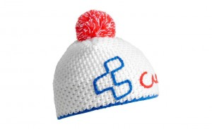CUBE Häkelbeanie blue´n´red´n´white #11612