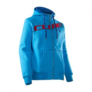 CUBE Kapuzenpulli Zip Hoody Diagonal blau #11668