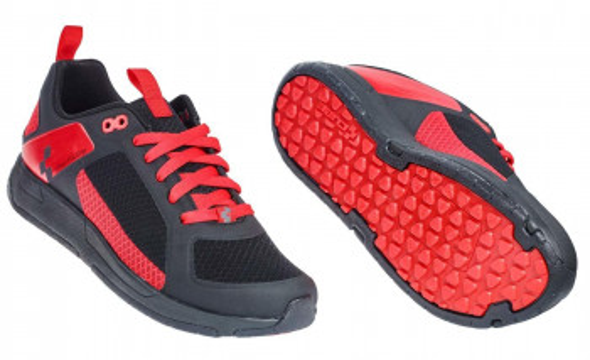CUBE Schuhe URBAN FLAT GRIP black´n´red #17030
