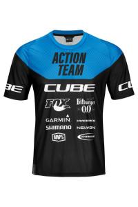 CUBE EDGE Rundhalstrikot kurzarm X Actionteam #11141