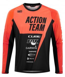 CUBE EDGE Rundhalstrikot langarm X Actionteam #10772 M