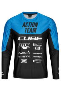 CUBE EDGE Rundhalstrikot langarm X Actionteam #11144