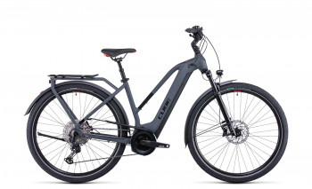 Cube Touring Hybrid EXC 625 grey´n´red 2022 Trapez