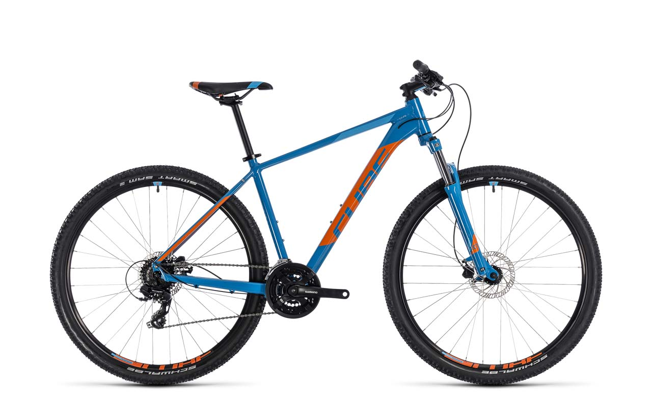 967381a002cd12 Cube Aim Pro blue orange …(Mj. 2018) Mountainbike Hardtail inkl ...