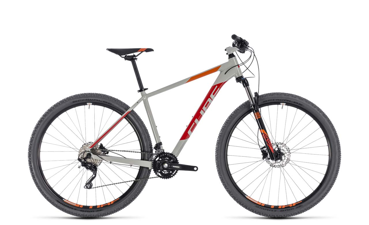 cube attention grey red 2 mj 2018 mountainbike hardtail. Black Bedroom Furniture Sets. Home Design Ideas